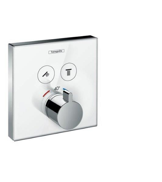 BATERIE DUS INCASTRATA SHOWERSELECT GLASS ALB HANSGROHE 157384