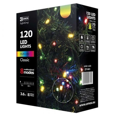 SIR LUMINOS 120 LED 12M MULTICOLOR ZY1451