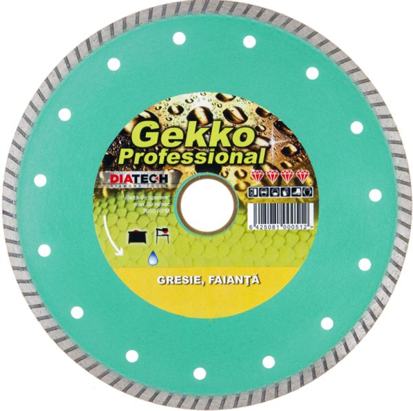 DISC DIAMANTAT GRESIE GEKKO 200 mm DIATECH