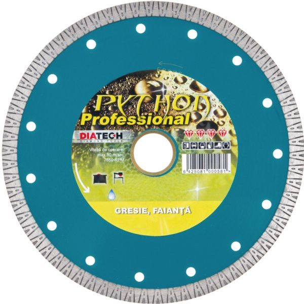 DISC DIAMANTAT GRESIE PYTHON 180 mm DIATECH