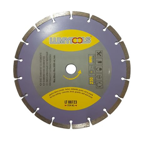 DISC DIAMANTAT CU SEGMENTE 230mm LUMYTOOLS