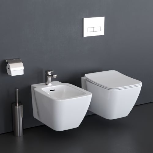 SET VAS WC SUSPENDAT AQUABLADE SI BIDEU STRADA II IDEAL STANDARD